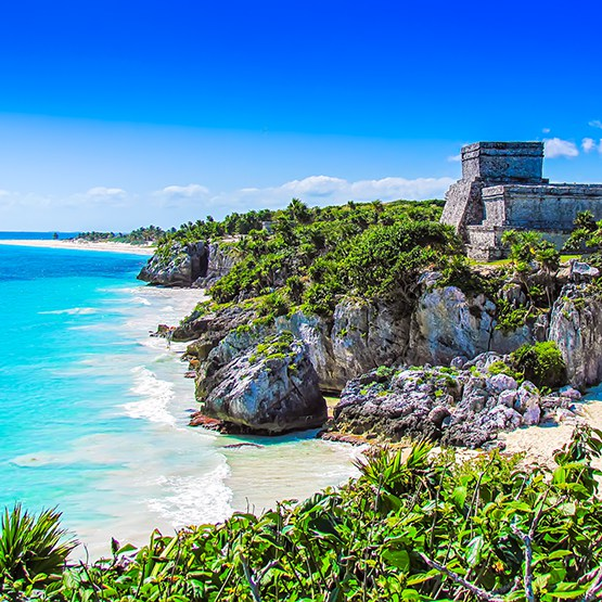 4n1 Tour: Tulum Ruins, Coba Pyramids, Cenote, and Playa del Carmen 33% Off
